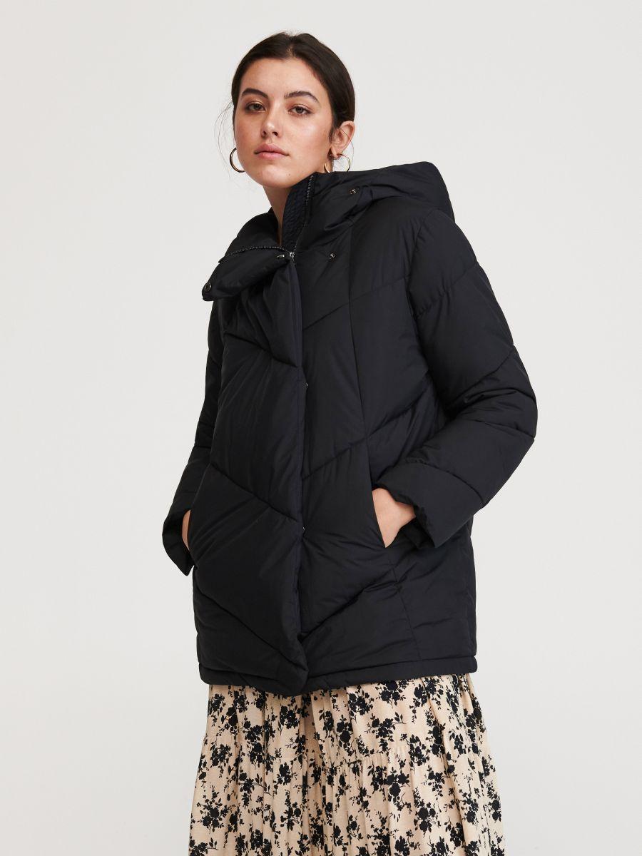 Ocieplana Kurtka Z Kapturem Reserved Wu631 99x Outer Women Outer Jacket Jackets