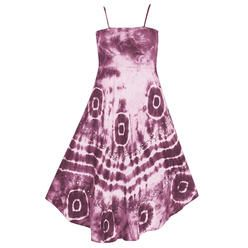 Pink Apple Plus Size Fuchsia Smocked Tie Dye Dress