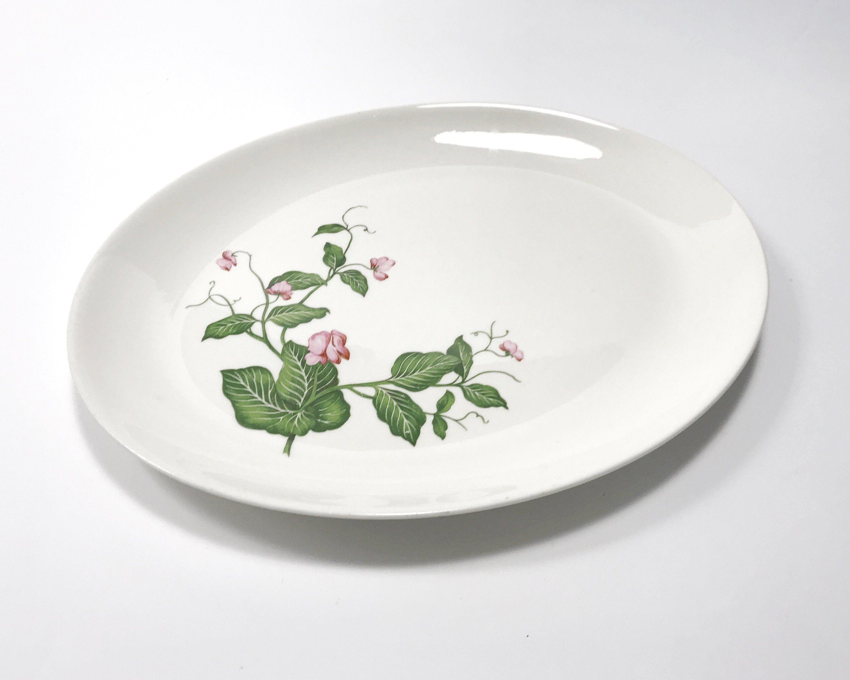 Vintage Homer Laughlin Platter Rhythm Pink Sweet Pea Pattern Etsy Platters Homer Laughlin Vintage China