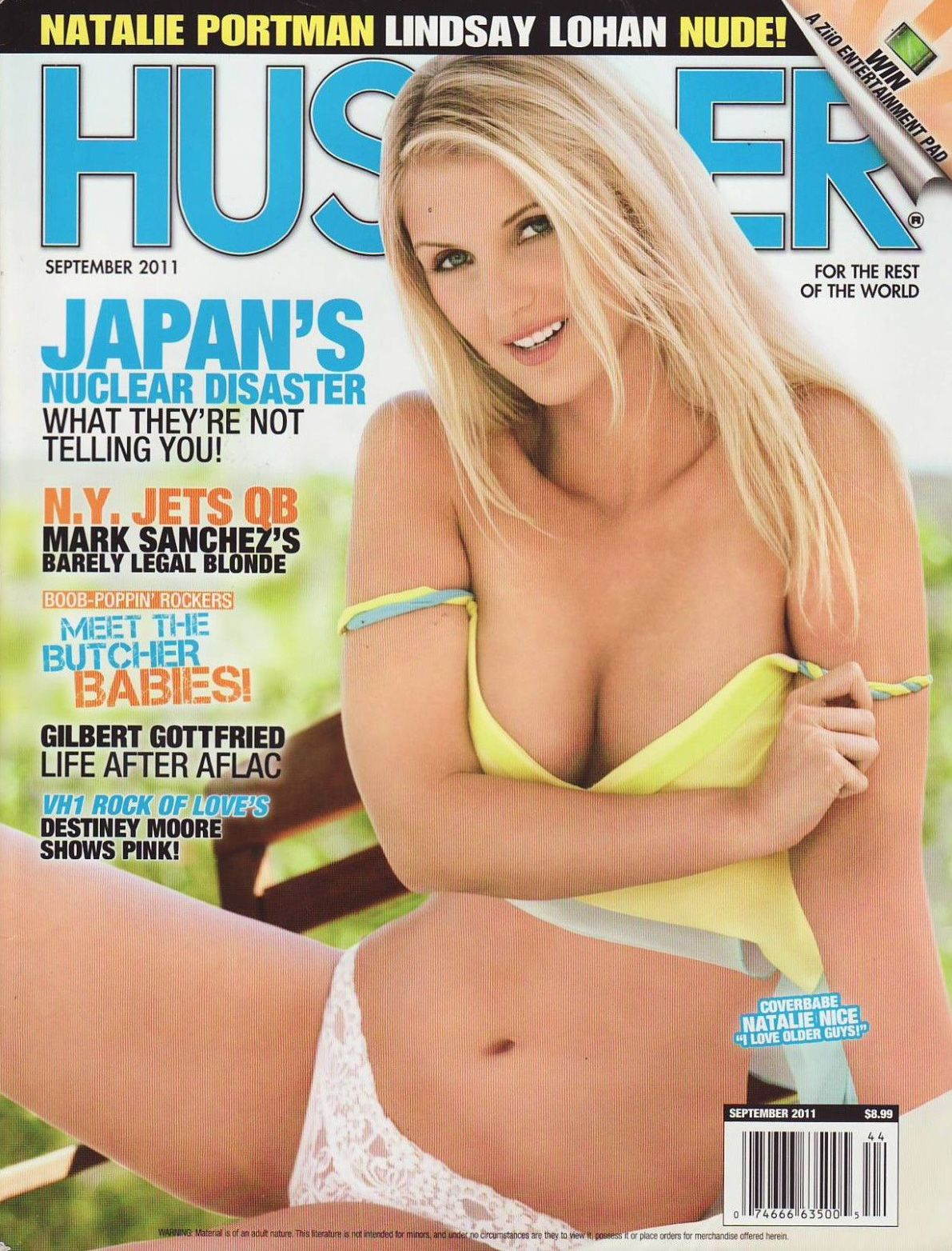 Hustler cover september 2001 love Fantasy