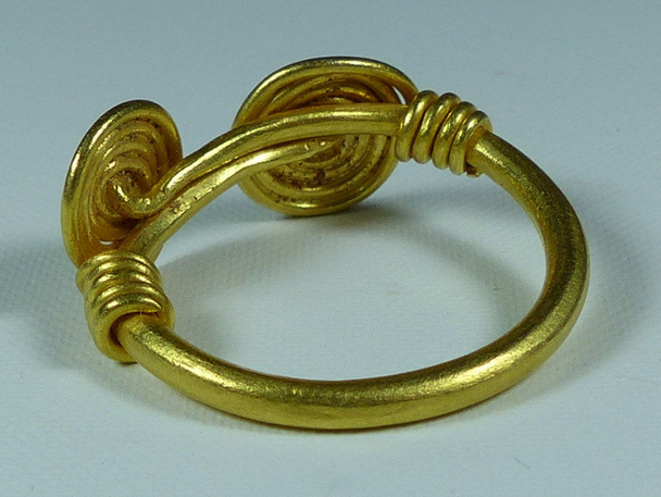 Celtic Gold Spiral Ring, C. 50 BC Ancient jewelry