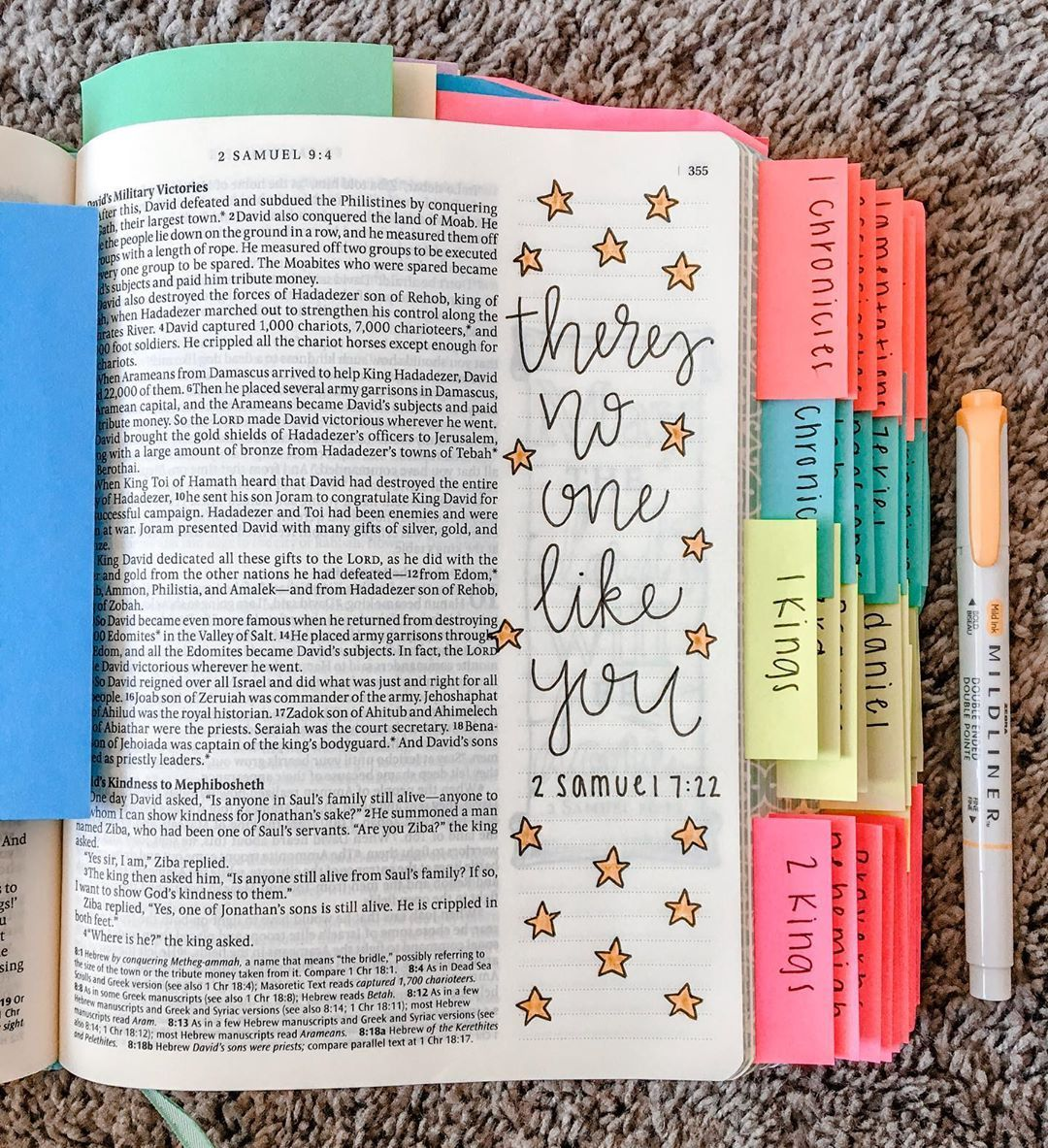 """✰ Kaley's Bible Journaling ✰ on Instagram: """"There is no one like you God, there is no greater love than yours, and there is no one greater than you"""
