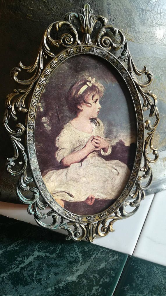 Vintage, frame, picture frame, metal, metal, no glass, without glass ...