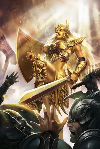 Fantasy Art Elder Scrolls Golden Saint Daedra Spirit Female