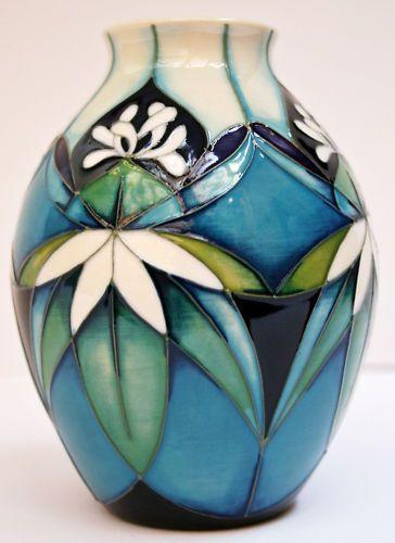 Moorcroft Colours of Kiribati Vase 3/5 Nicola Slaney