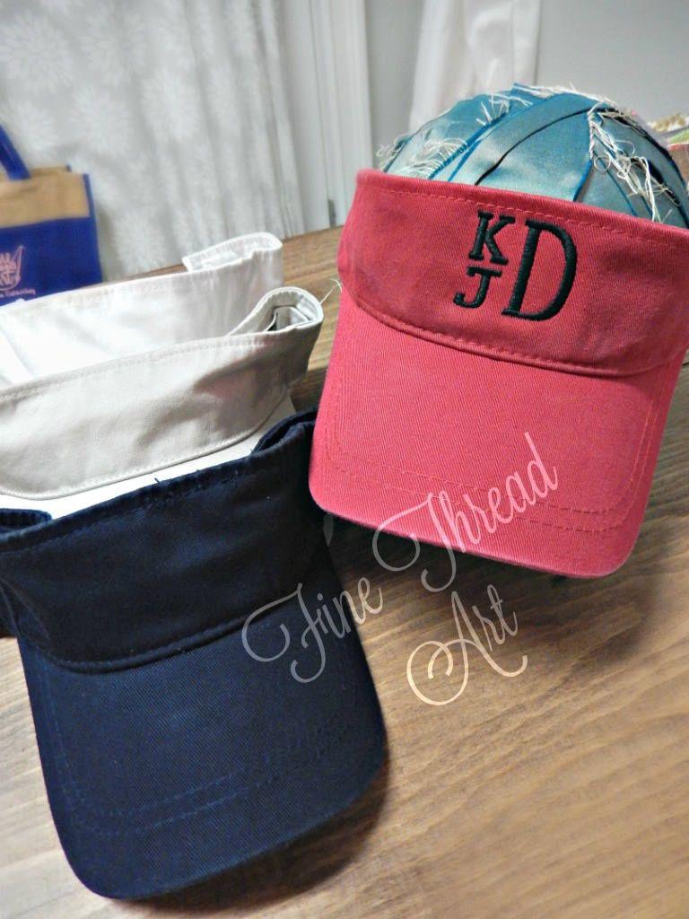 da0ae4fa8f7 KIDS Monogram Visor Baseball Cap Hat for Girls Boys Youth Size Name  Initials Red Navy White