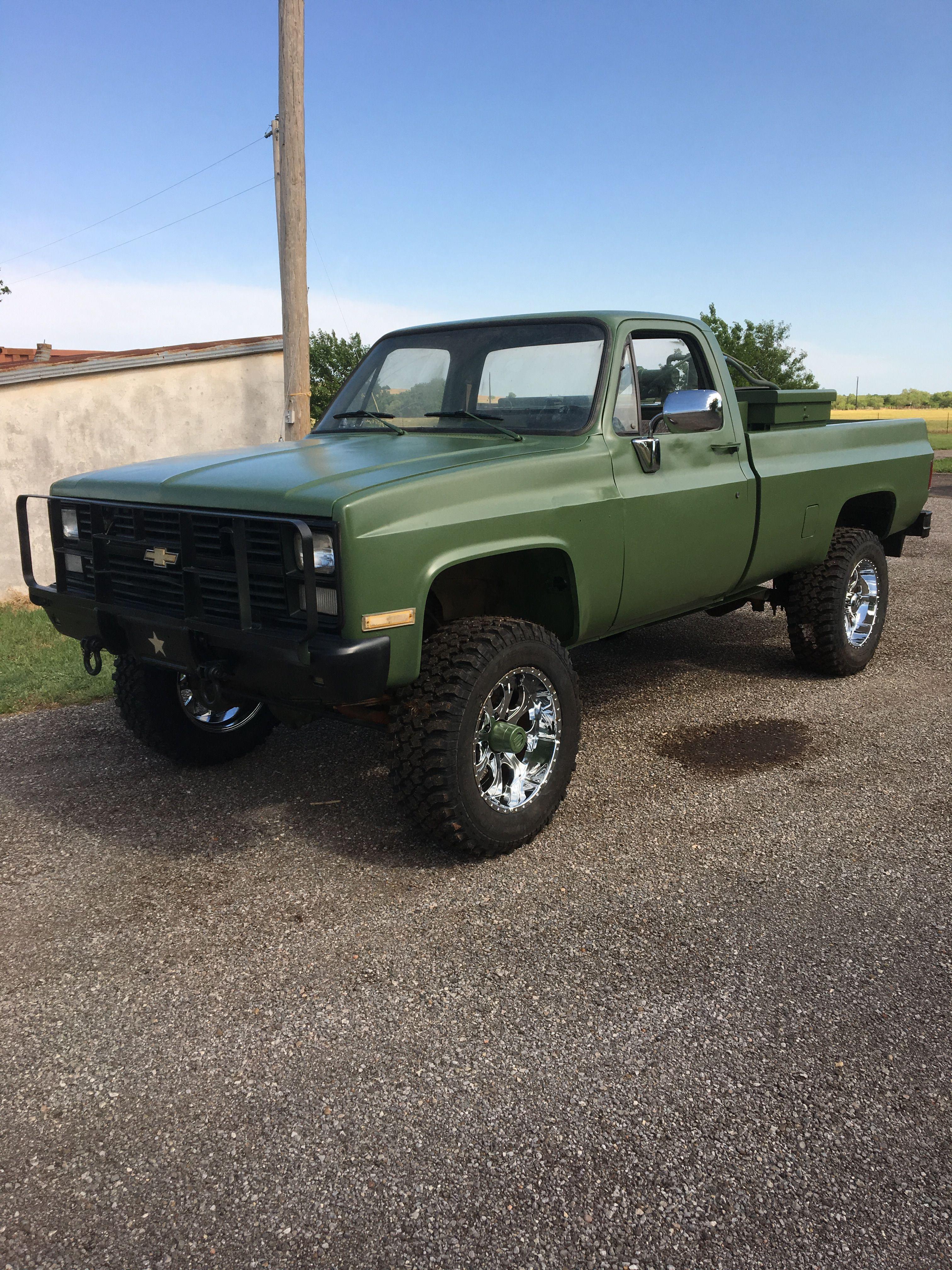 """84 military pickup od green 6"""" lift Trucks in 2018"""