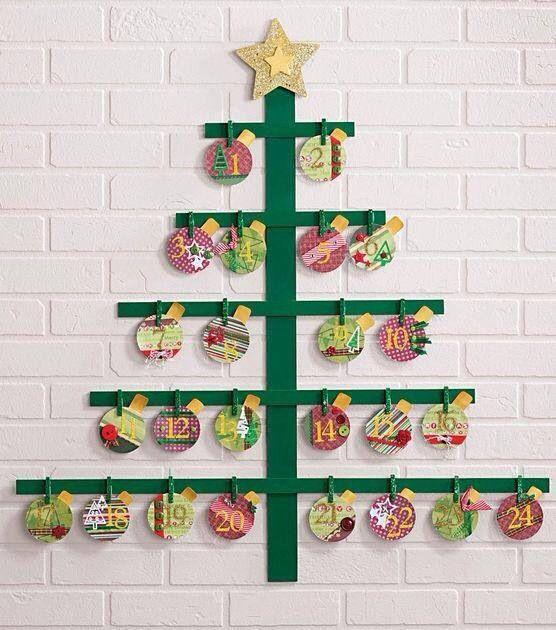 Easy advent calendar Nadal Pinterest Advent calendars