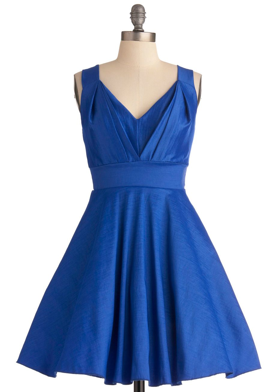 Qualified quirk aline dress sapphire modcloth and vintage dresses