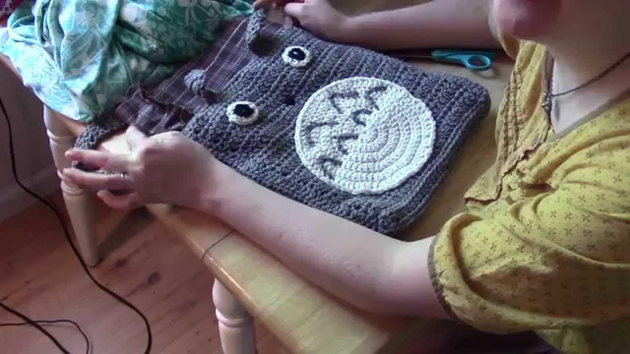 Crochet a totoro purse part 2 lining dipetoa bore video crochet dt1010fo