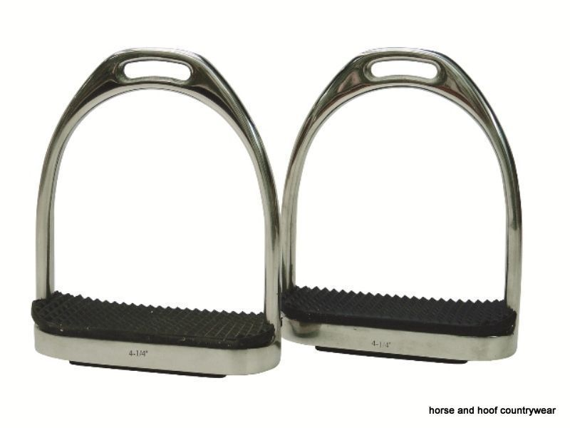 Rhinegold Horses Flexi Stirrup Irons With Treads