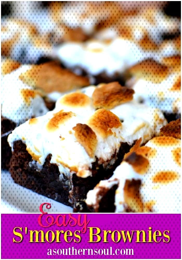 S'mores Brownies - A Southern Soul Make these Smores Brownies right in your own kitchen! They are s