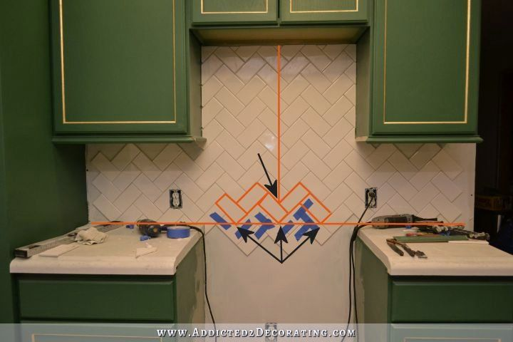 How To Install A Herringbone Subway Tile Backsplash