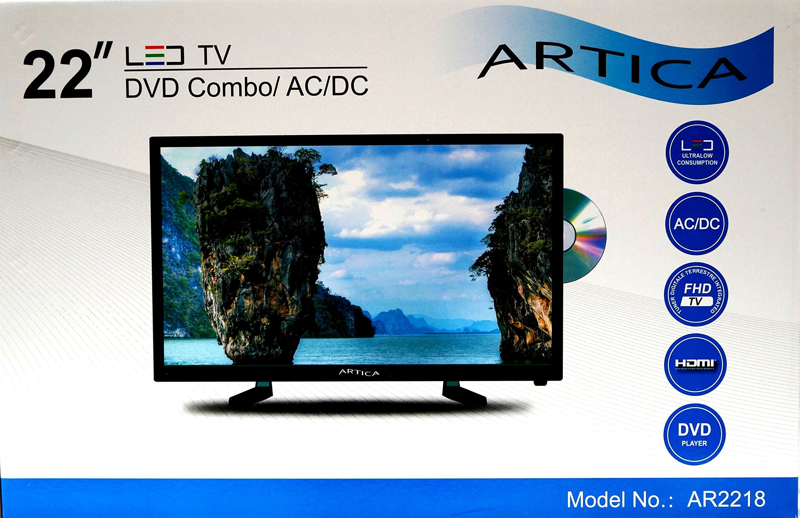 Artica Ar2218 22 39 39 Inch Led Tv With Dvd Player Hd Combo Digital Analog Ac Dc 12v Dvd Dvd Player Led Tv
