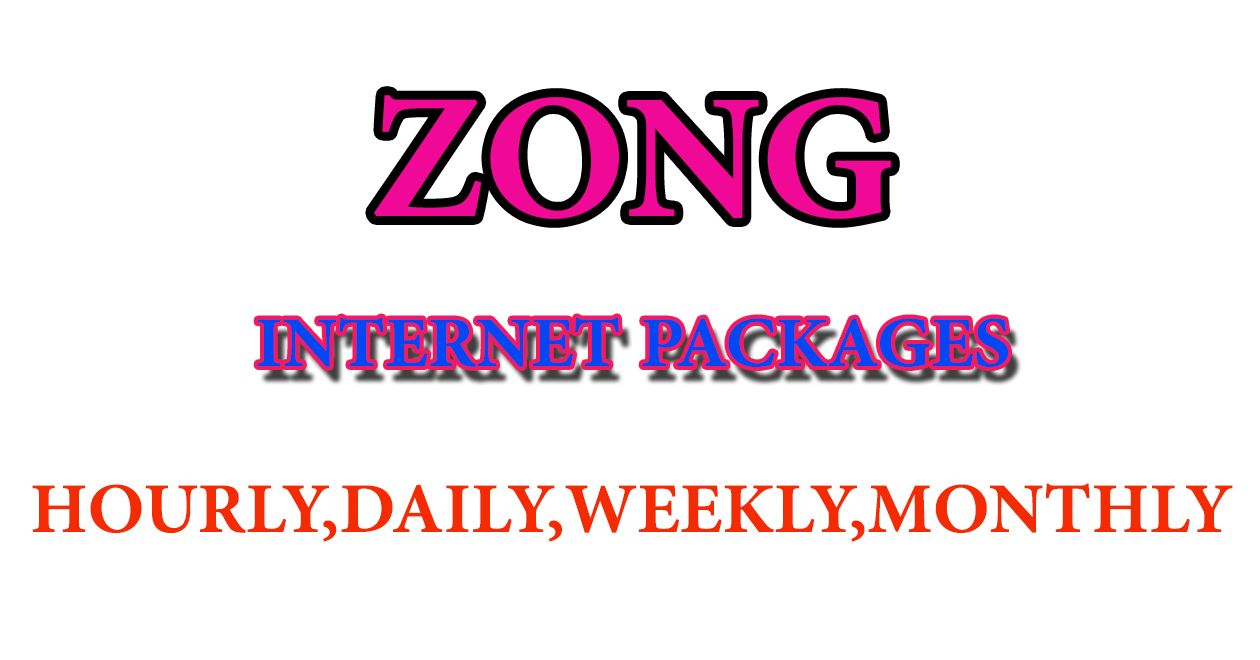 Zong Weekly Internet Packages Internet Packages Packaging Internet