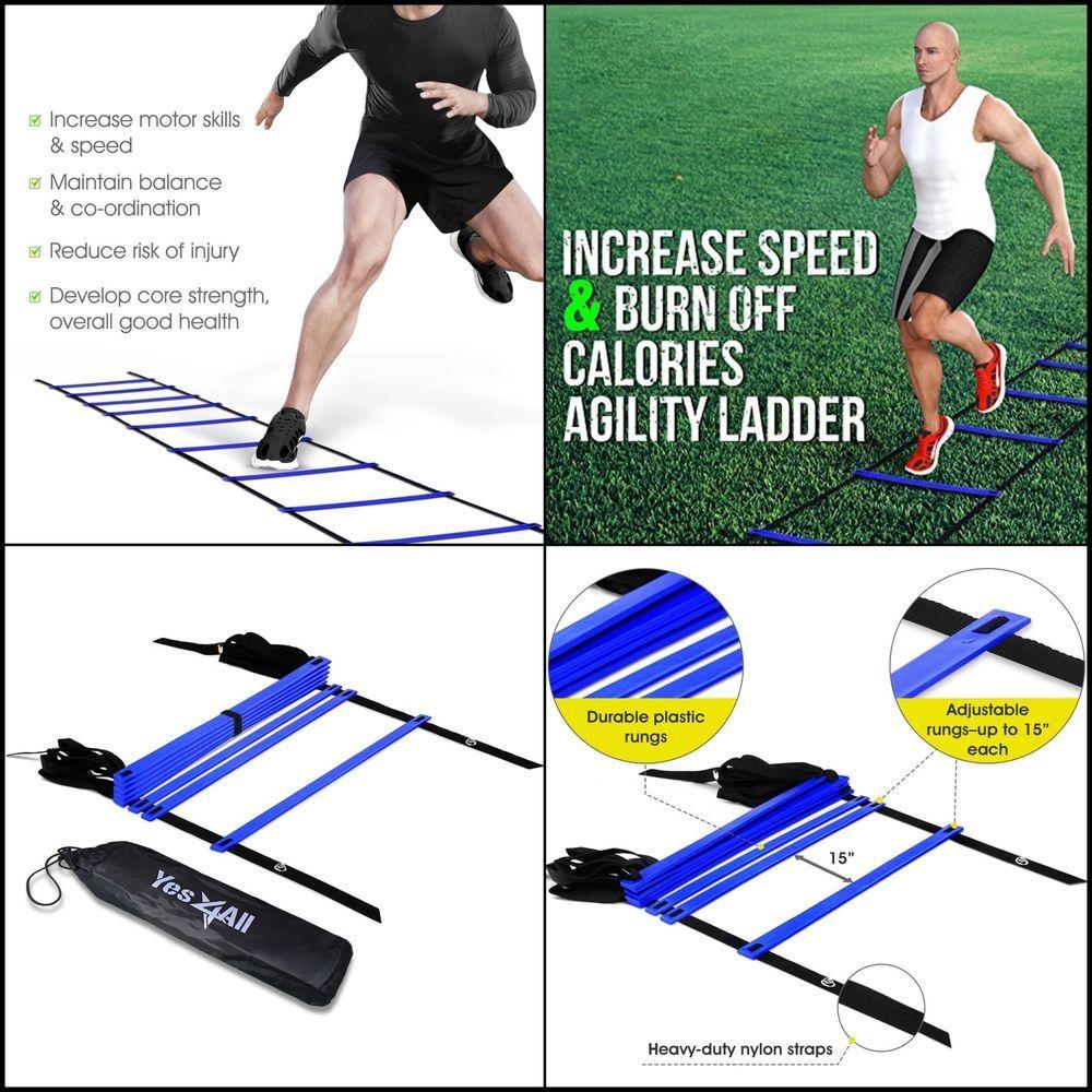 Durable Agility Ladder Speed Soccer Football Fitness Feet Gym Training Sports