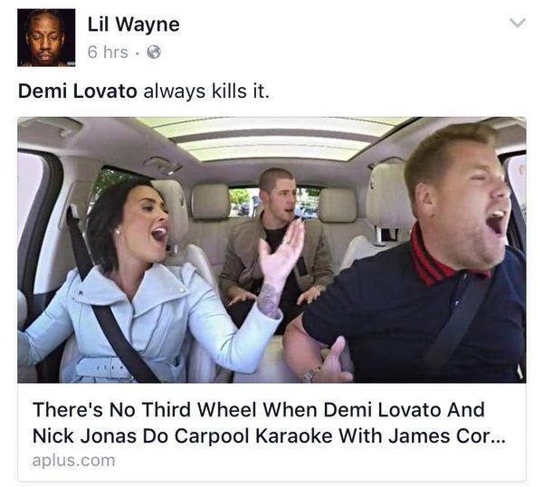 Demi Lovato ✨Nick Jonas✨Late Late show ✨Carpool Karaoke ✨✨