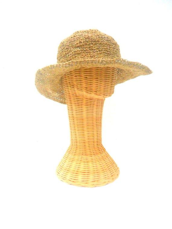 c01c9de503d Hemp Bucket Hat Crochet Hat Boho Hat