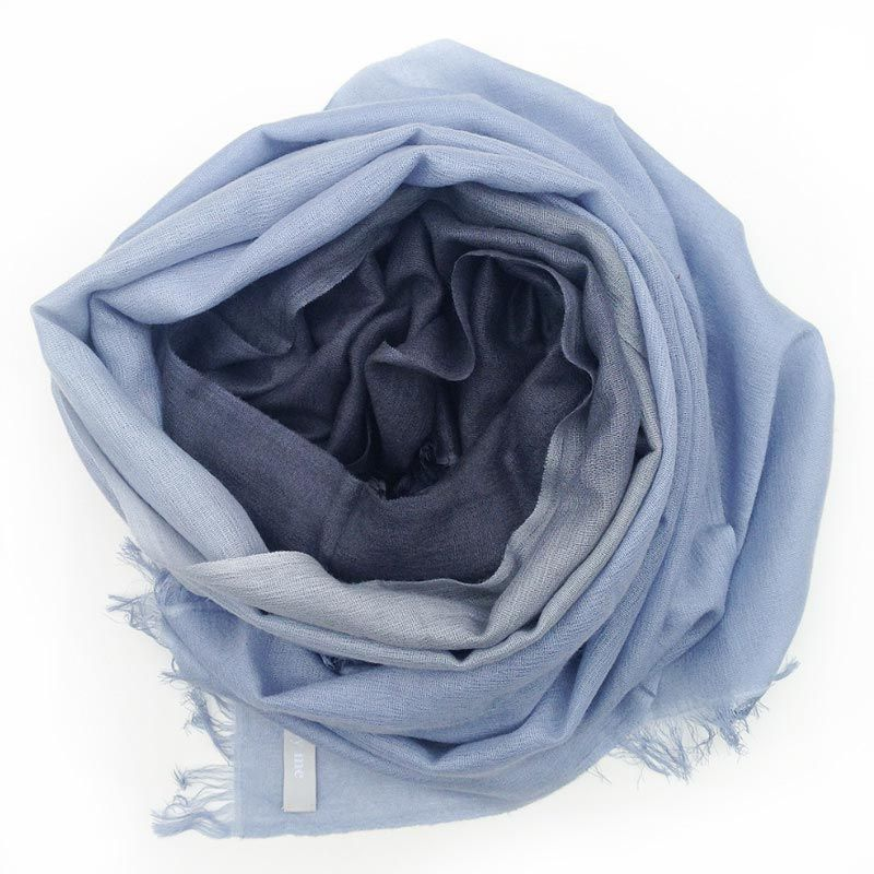 care by me Schal Dip Dye 70x200cm in dunkelbaul / hellblau | Gefunden auf #KONTOR1710
