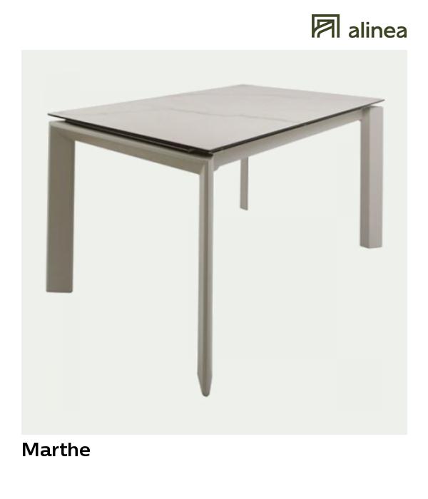 marthe table de repas extensible l140cm