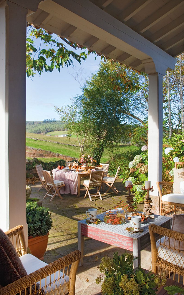 Wonderful Country Cottage Design : Beautiful Open Terrace ...