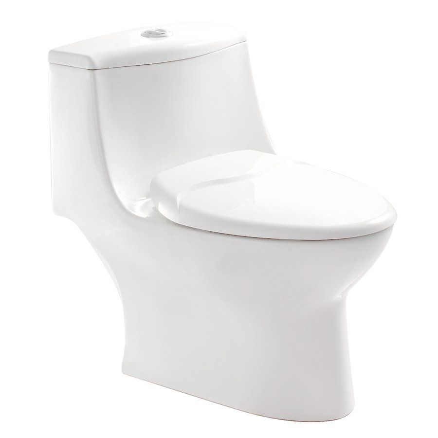 10 Inch Rough In Toilet Canada Pfister Vtp E70w Kamato One Piece Dual Flush Toilet Lowe S