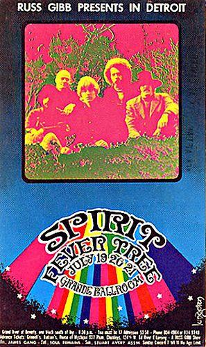 JULY 19/ FRIDAY..1968. --Spirit. --Fever Tree....@The Grand Ballroom in detroit