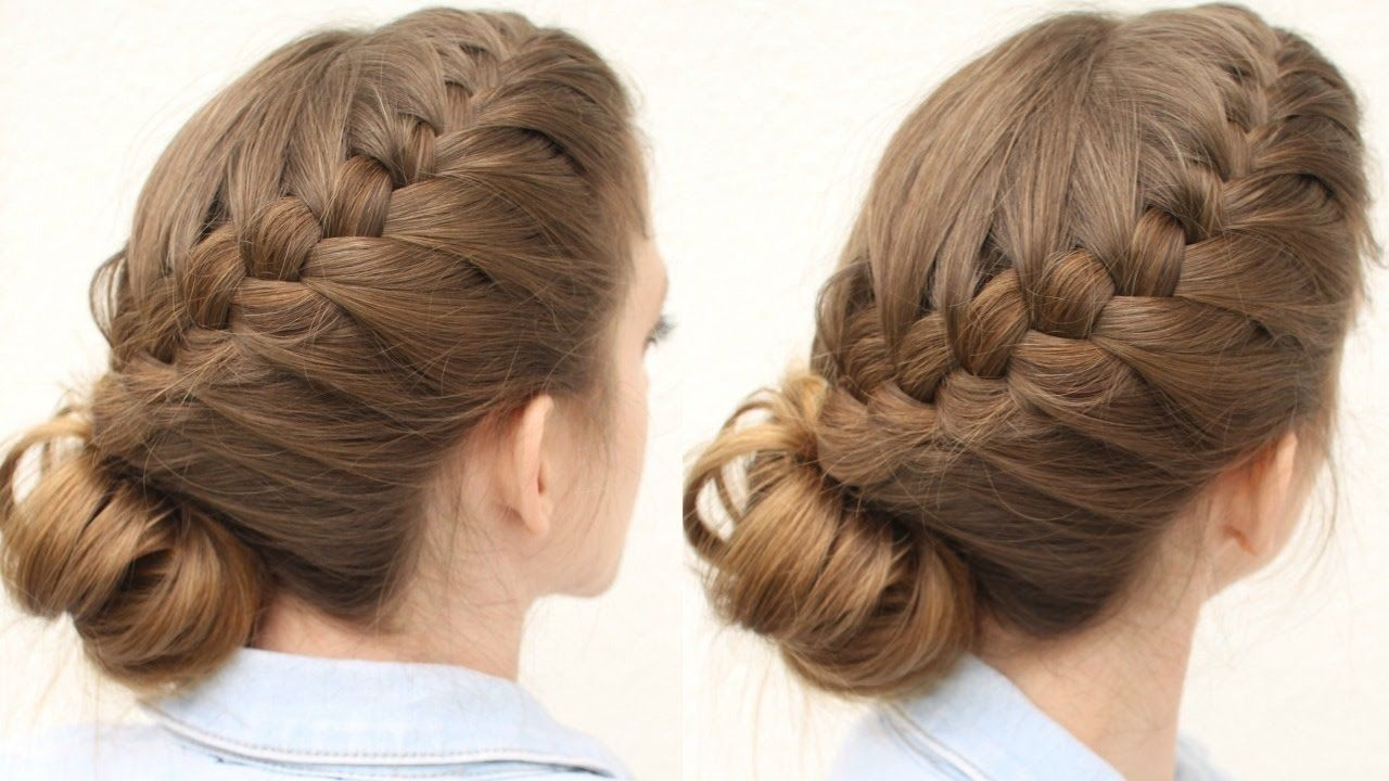 french braid updo hairstyle | updo hairstyles