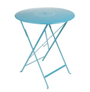 Floreal Folding Table With Parasol Hole Eye Of The Day Garden Design Center Luxury Outdoor Furniture Small Tables Fermob