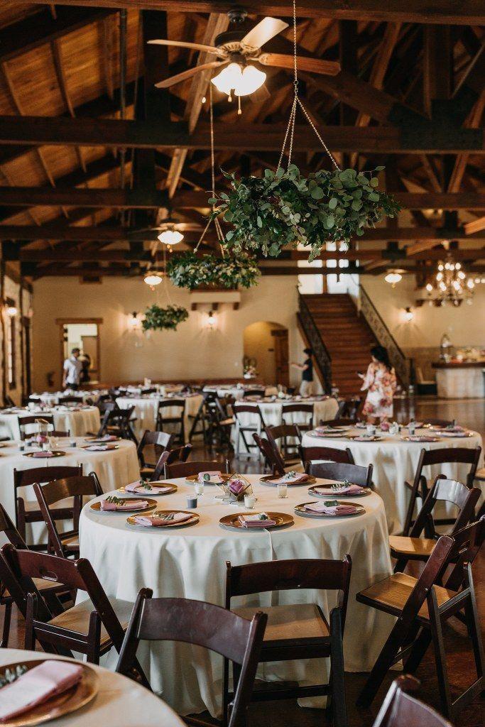 Beautiful Wedding Decoration Idea For An Elegant Indoor Wedding Reception Hang Greenery From Wedding Decor Elegant Indoor Reception Indoor Wedding Receptions
