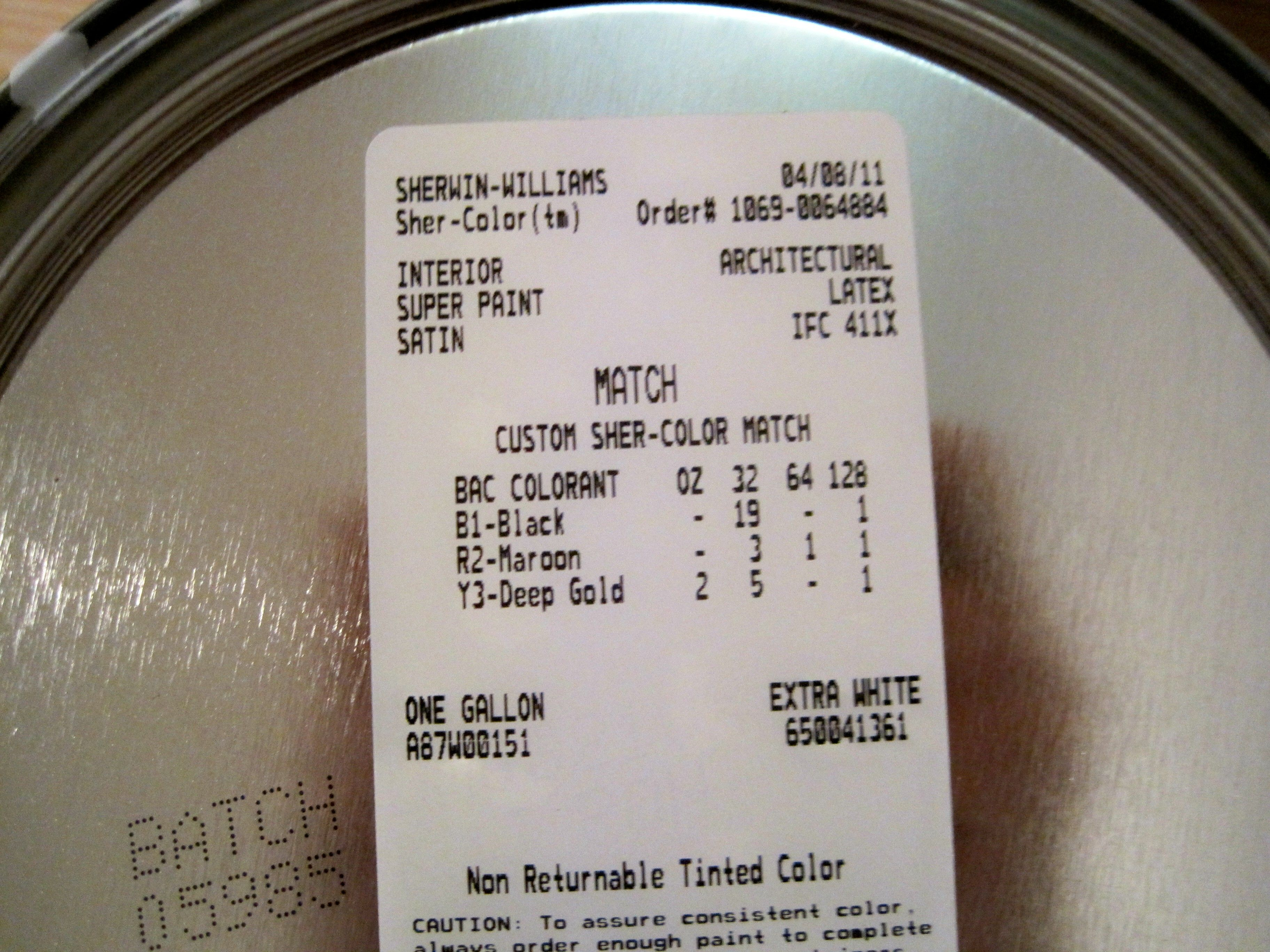 In this case, Sherwin Williams did a good (though not ...