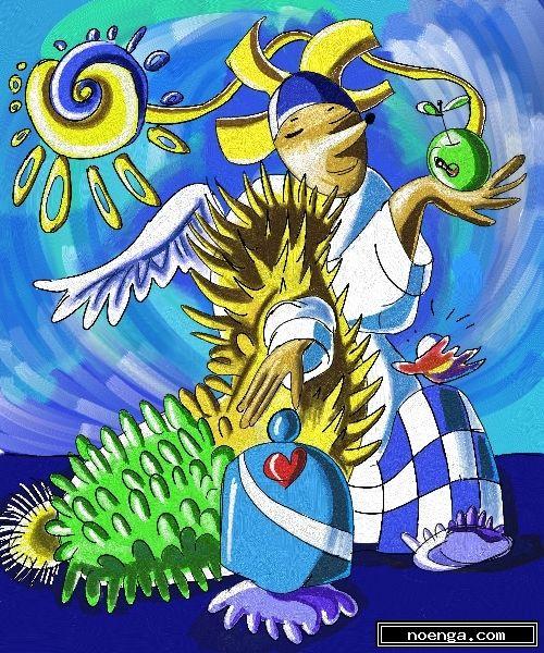 noenga.com :(c) marinase92 (GERMANY) :: Buddha-hedgehog :: Andere : Surrealistisch : Digitale kunst : Digitaal/3D :
