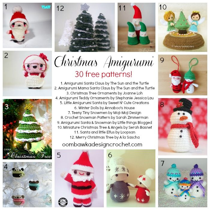 30 free christmas amigurumi patterns