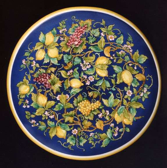Tabletop round 175 cm with round top. - Luxury Lemons and Grapes