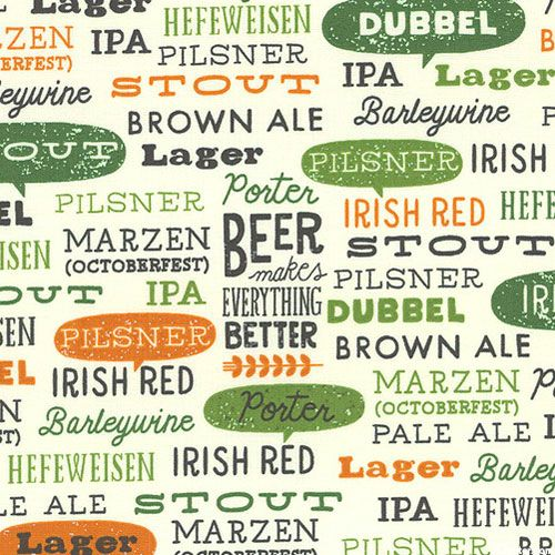 Cheers - Craft Beer Menu - Quilt Fabrics from wwweQuilter