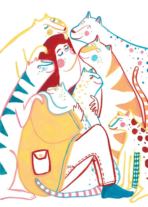 Tapir&Klotz Welt katzen tag, Illustrator, Illustration
