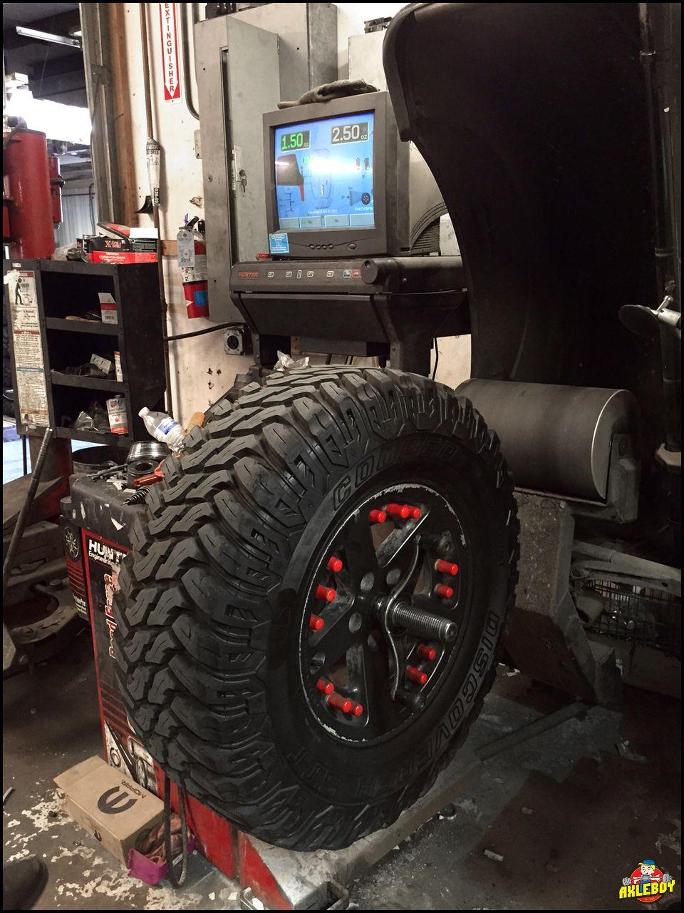 "Road force balancing 35"" Cooper STT tires"