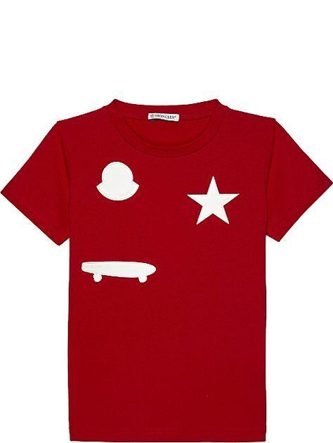 f2d2b1a82408 MONCLER Patch cotton short-sleeve T-shirt 4-14 years
