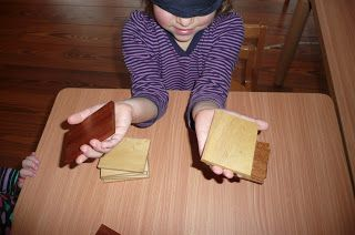 Baric Tablets with blind fold | Montessori sensorial, Baric, Infant activities