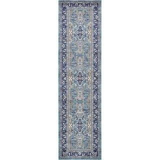 Unique Loom Elizabeth Tradition Runner Rug 2 7 X 10 Runner Blue Polypropylene Abstract Unique Loom Abstract Runner Rug Area Rugs