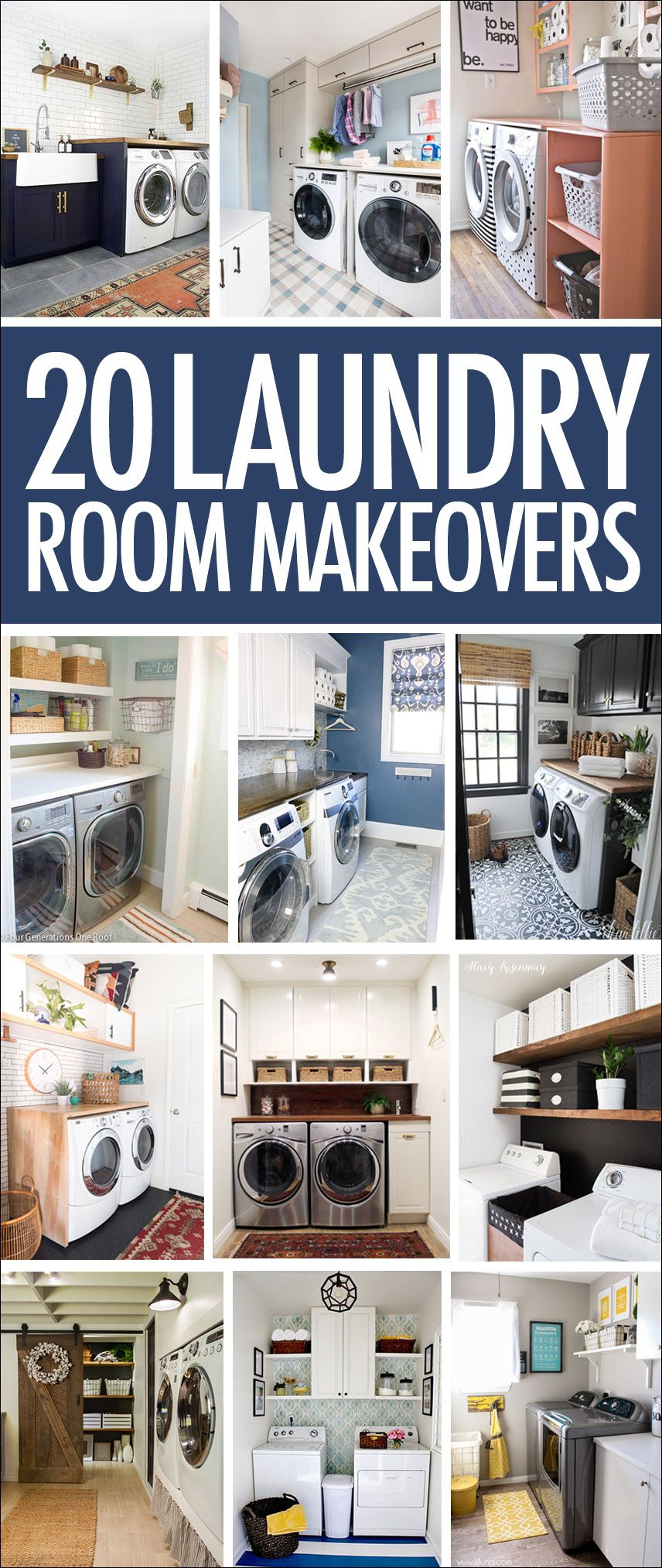 20 Laundry Room Makeovers Organization And Home Decor With
