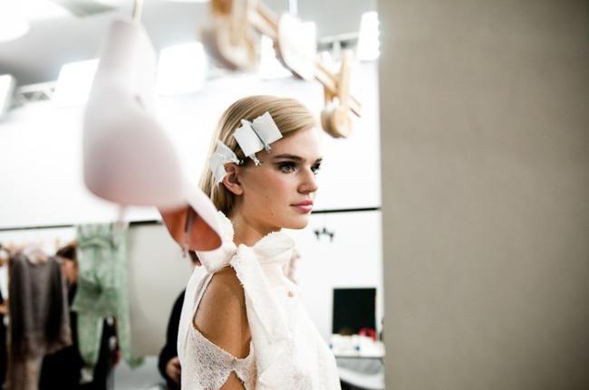 Backstage Milan Fashion Week.  Photo @Ilaria Magliocchetti Lombi