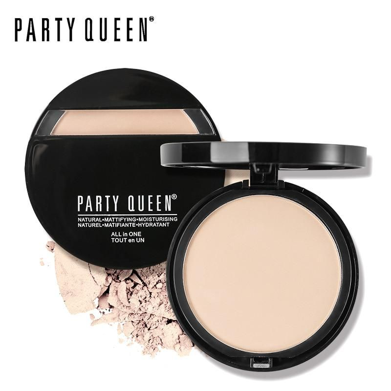 Party Queen Brand Oil Control Pressed Powder Natural Mineral Face
