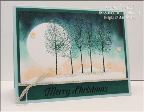 Photo of IM38 – Stampin 'Up! Winter Woods Stamp Set para una bonita escena de mañana de invierno. Delaware…