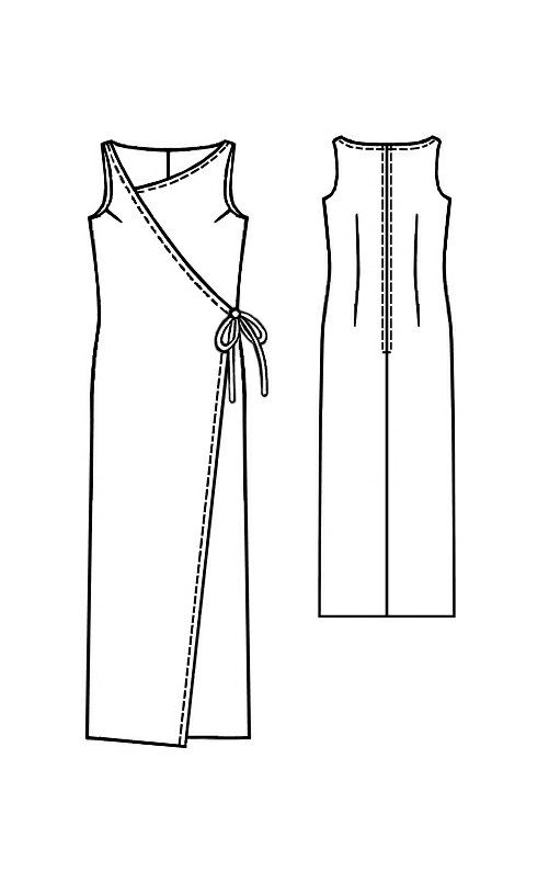 Dress - Sewing Pattern #5129 Made-to-measure sewing pattern from ...