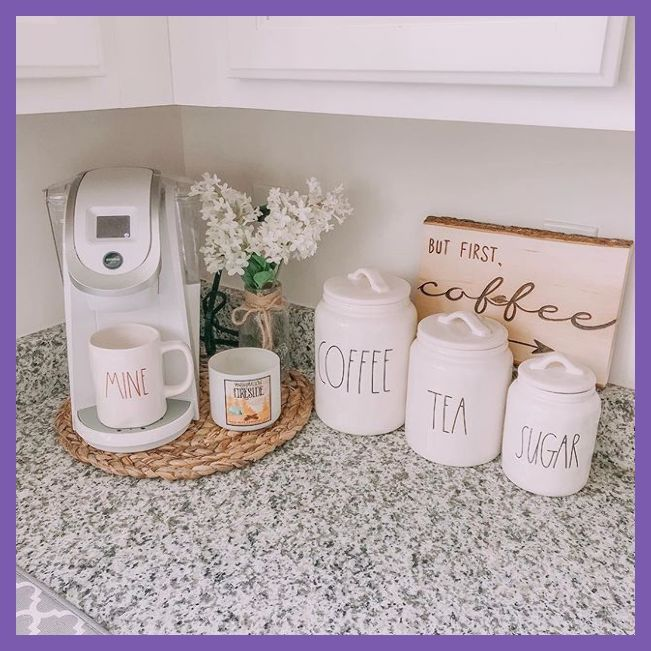 My coffee corner is just about my favorite corner right now.  I mean Im out of K-cups right n... #coffeebarideas