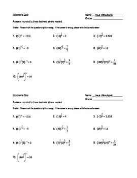 Rational Exponents Error Detection Worksheet | math ...
