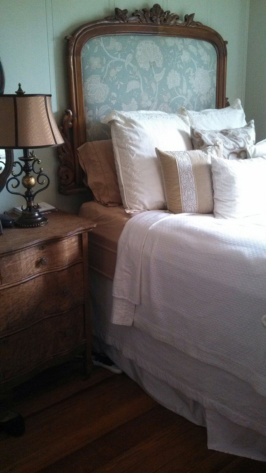 One of my diy projects the headboard is from an old sideboard or