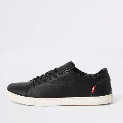 Mens casual shoes, Mens black leather