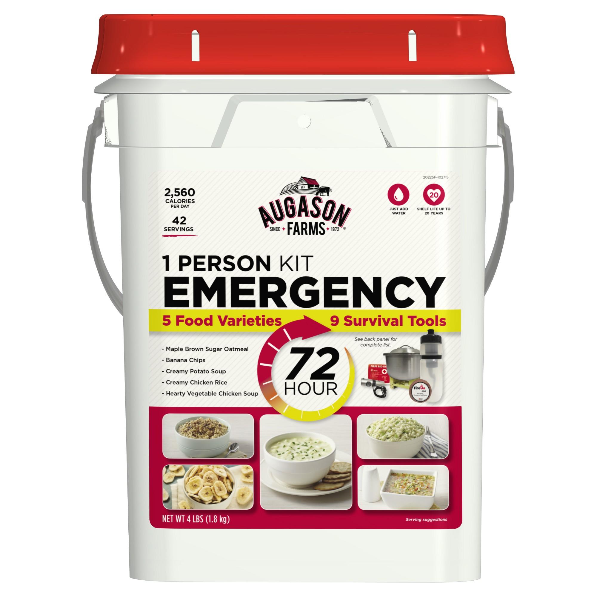 Augason farms 72hour 1person emergency food storage kit